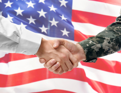military lawyer handshake